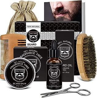 Beard Kit Beard Care & Grooming Kit for Men Gifts, Natural Organic Beard Oil, Beard Balm, Beard Comb, Beard Brush, Beard Scissor, Gift Box, Canvas Carry Bag and Free E-Book, Perfect gifts for him