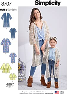 Simplicity Creative Patterns US8707A Pattern 8707 Child's and Misses' Kimonos Children