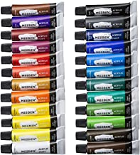 MEEDEN Acrylic Paint Set of 24 Colors/Tubes (12ml/0.4 oz.) Non Toxic Rich Pigments Colors Great for Artist Student, Hobby ...