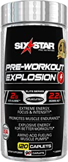 Pre Workout Pills | Six Star Explosion Preworkout Pills | Energy Pills | Nitric Oxide Supplement + L-Arginine + Beta Alani...