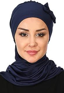 Instant Turban Cotton Scarf Head Wrap With Scarf Chemo Headwear Cancer Cap