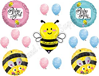 What Will It BEE?? Baby Shower Gender Reveal Party Balloons Decorations Supplies