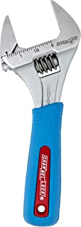 Channellock 6WCB WideAzz Adjustable Wrench with Code Blue Grips, Over 1-3/8-Inch Opening 6-Inch Overall Length