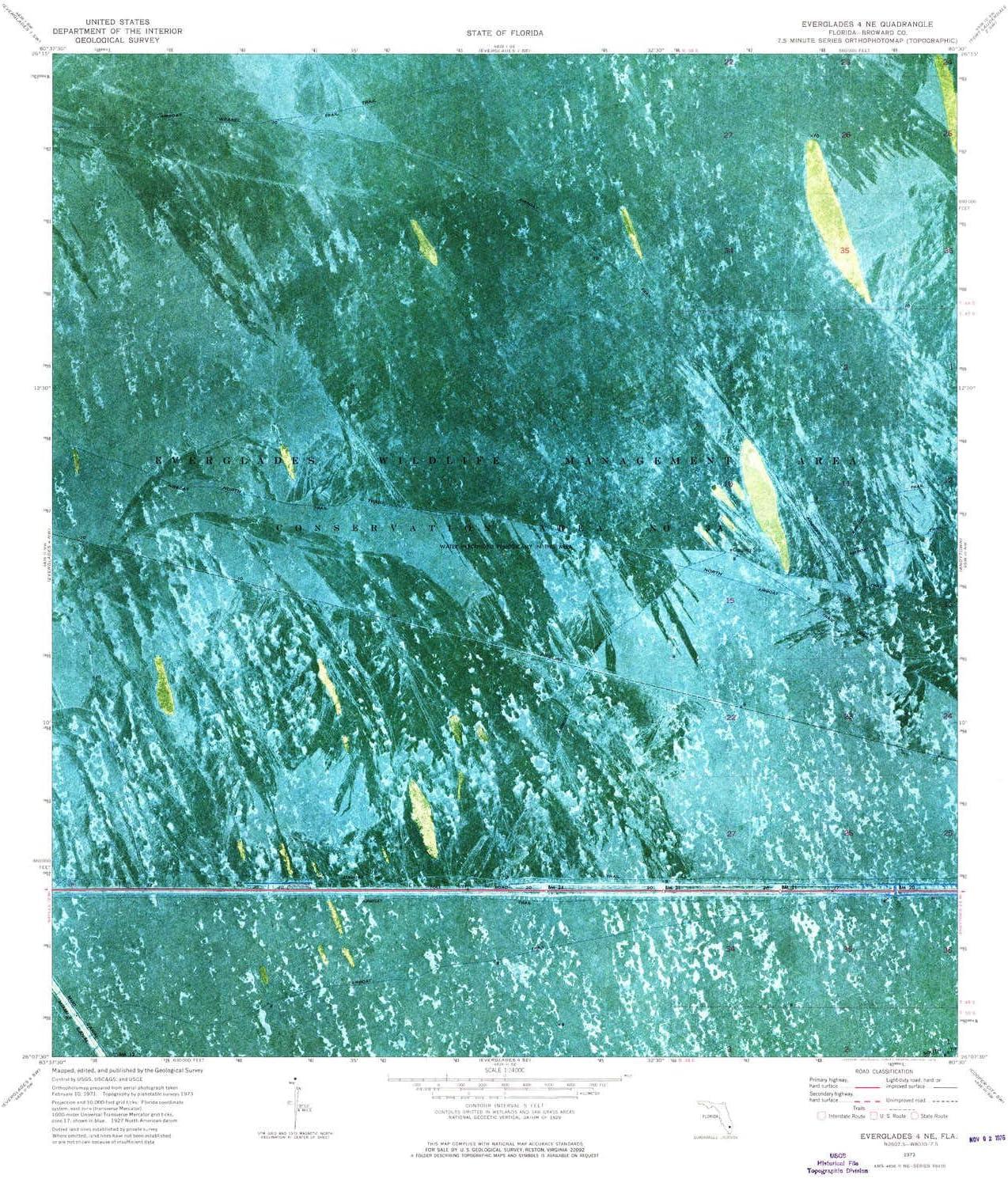 YellowMaps wholesale Everglades 4 NE FL topo Max 82% OFF 1:24000 Scale 7.5 map X