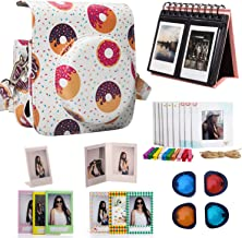 Woodmin Donut 8-in-1 Accessories Bundle for Fujifilm Instax Mini 90 Camera (Mini 90 case/Calendar Albums/Frames/Film Stickers/Filters)