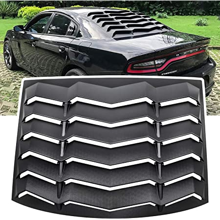 Bonbo Rear Window Louver Windshield Sun Shade Cover in GT Lambo Style ABS for Dodge Charger 2011-2020 Custom Fit Matte Black