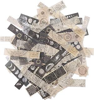 Scrapbooking Sticker 80Pcs Washi Paper Stickers Set Autocollant Scrapbooking Autocollants Thème du Timbre Astronomie Main ...