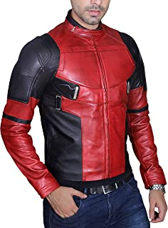Men's Fashion Deadpool Wade Wilson Ryan Reynolds Synthetic Faux Leather Jacket