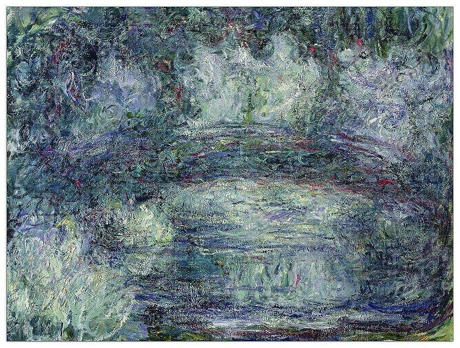 ArtPlaza TW91864 Monet Claude - Pont Japonais Japanilainen silta Decorative Panel 35.5x27.5 Inch Multicolored