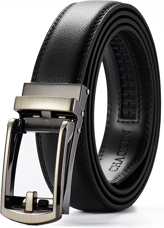 CHAOREN Leather Ratchet Slide Belt 1 1/4