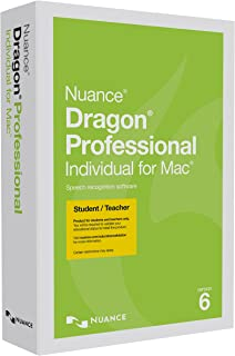 Dragon Professional Individual for Mac 6.0, Student/Teacher Edition (Discontinued)