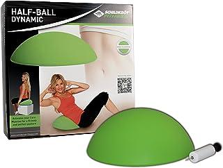 comprar comparacion Schildkröt Fitness Half-Ball Dynamic, Entrenador de Equilibrio, Incluye Bomba de Mano y Póster de Ejercicios, Verde, 960038