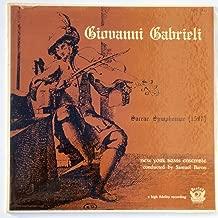 Giovanni Gabrieli: Sacrae Symphoniae (Venice 1597)
