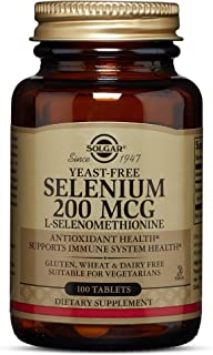Solgar Yeast-Free Selenium 200 mcg, 100 Tablets - Supports Antioxidant & Immune System Health - Non-GMO, Vegan, Gluten Fre...