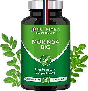 Moringa Oleifera Bio 120 Cápsulas | Superfood Antioxidante Natural Sistema Inmunológico Energía Proteina Vegetal | 400 mg Polvo