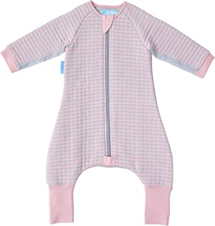 The Gro Company Groromper Pink Stripe Cosy Sleepsuit for 24-36 Month Babies, Pink, 11.35 Ounces
