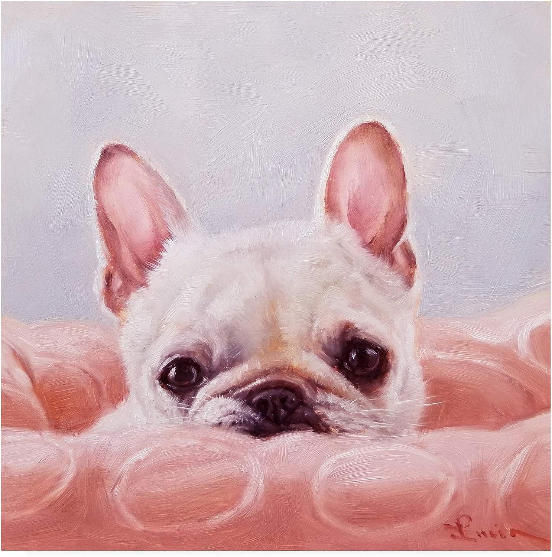 Trademark Fine Art IC01521-C1414GG My Happy Place Dog by Lucia Heffernan, 14x14, Multiple