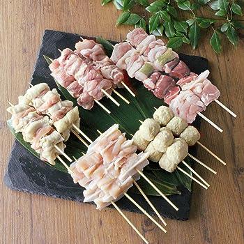 水郷のとりやさん 国産 鶏肉 焼き鳥ジュージュー5品 調味料付き 生串18本入り お試しセット