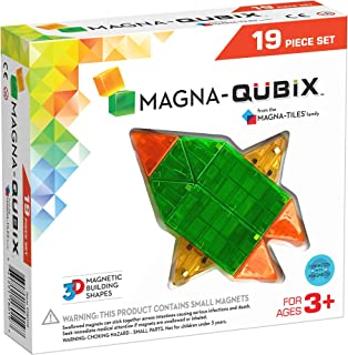 Magna-Qubix 19-Piece Set – The Original, Award-Winning Magnetic 3D Building Shapes – Creativity & Educational – STEM Approved