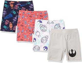 Spotted Zebra Amazon Brand Girl's Disney 4-Pack Bike Shorts