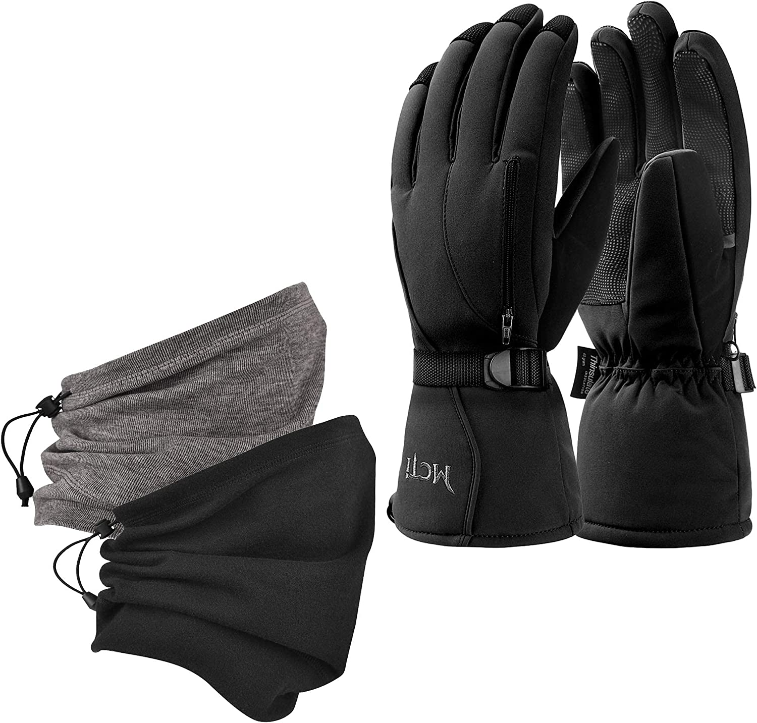 MCTi Waterproof Ski Gloves Winter Warm Neck Recommended 3M Thinsulate Gait + Max 57% OFF