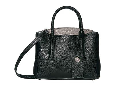 Kate Spade New York Margaux Mini Satchel (Black/Warm Taupe) Bags