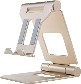 SMAPRO Cell Phone Stand, Multi-Angle Holder, Mobile Cradle, Desktop Cradle, Adjustable, Foldable and Portable Mobile Acces...