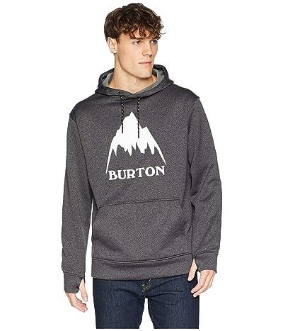 Burton Oak Pullover Hoodie (True Black Heather/Stout White) Men