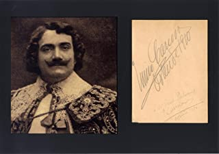 Enrico Caruso OPERATIC TENOR autograph, signed album page mounted