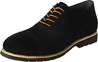 iloveSIA Men's Suede Leather Casual Brogue Wingtip Oxfords Shoe