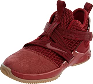 Nike Lebron Soldier XII SFG (PS) Boys Fashion-Sneakers AO2912-600_13.5C - Team RED/Team RED-Gum Light Brown