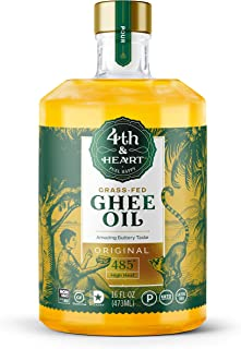 Original High Heat Cooking Oil by 4th & Heart   Blend of Grass-fed Ghee, Avocado, and Grapeseed Oils   Non-GMO Verified   ...