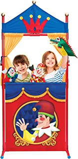 IQ Toys Deluxe Puppet Theater Fold-Able and Easy to Store