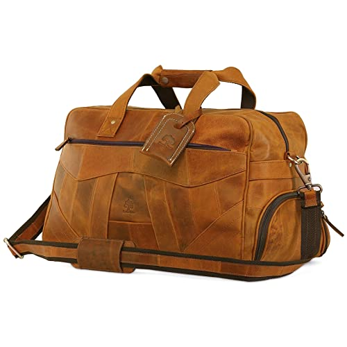 4a7960e57 Leather Duffel Bag For Men | Airplane Travel Carry On Duffle Bag |  Underseat Weekender Luggage