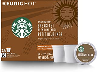 Starbucks Breakfast Blend Medium Roast Single Cup Coffee for Keurig Brewers, 4 Boxes of 24 (96 Count K-Cup pods)