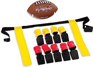 Franklin Sports Flag Football Flags and Ball Set - Flag Football Belts and Football for Kids - Full Youth Flag Football Se...