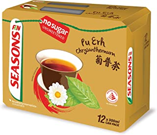 Seasons Chrysanthemum Pu Erh Tea, 300ml (Pack of 12)
