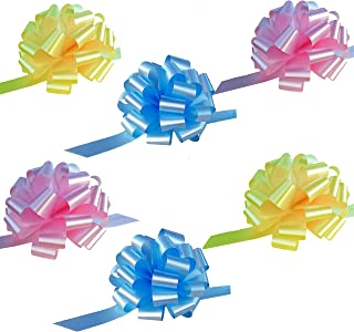 Baby Blue, Yellow, and Pink Pull Bows - 6