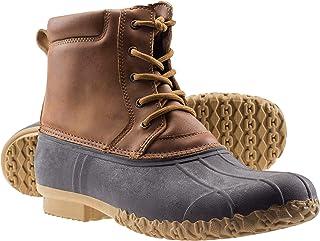 Mens Waterproof Insulated Durable Outdoor Work Rain Winter Snow Duck Bean Boots