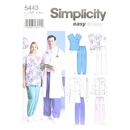 Simplicity Easy To Sew Men and Women s Scrubs and Doctor s Outfit Costume  Sewing Pattern 9077ef1b087