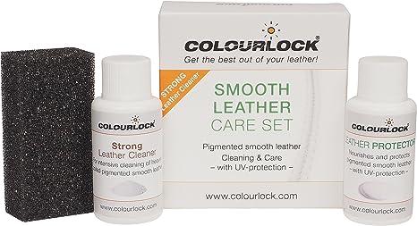 KIT cuero/piel MINI, con limpiador cuero suave Colourlock® para limpiar y mantener bolsos, maletas, guantes …