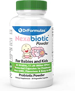 DrFormulas Nexabiotic Probiotic Powder for Babies, Infants & Kids Probiotics with Saccharomyces Boulardii, L. Acidophilus,...