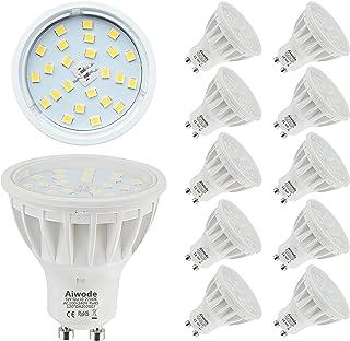 comprar comparacion 5W Bombilla GU10 LED Equivalente a 50W Blanco Cálido 2700K No Regulable 600LM RA85 120°Ángulo de haz,Paquete de 10.