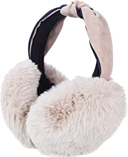 AILIMY Simplicity Plush Earmuffs Women's Faux Furry Warm Winter Outdoors Ear Muffs Foldable