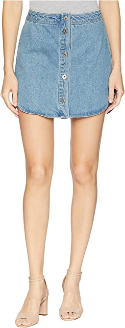 Macyn Button Front Denim Skirt