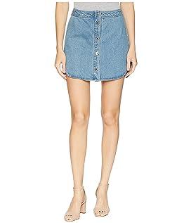 Macyn Button Front Denim Skirt