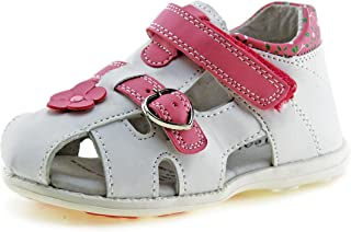 8d47faa19446 Jabasic Kids Summer Outdoor Sandals Boys Girls Closed-Toe Leather Lined  Strap Beach Shoes (