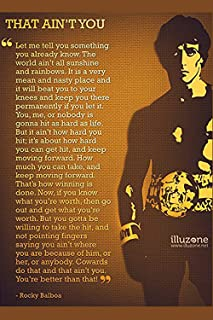 FoveroPoster That Ain't You….Rocky Balboa's Poster Print 12 x 18 Inch Poster Rolled