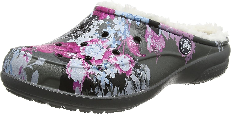 Crocs Womens Women's Freesail Floral Lined Clog Mule