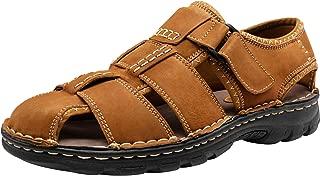 Men's Sandals Outdoor Sport Leather Fishermen Sandal Casual Closed Toe Beach Sandal